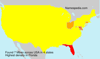 Surname Mbao in USA