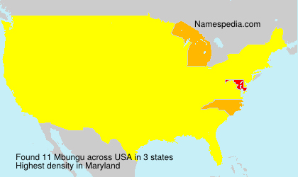 Familiennamen Mbungu - USA
