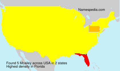 Surname Mcailey in USA