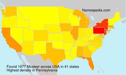 Surname Mcaleer in USA