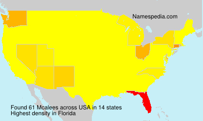 Surname Mcalees in USA