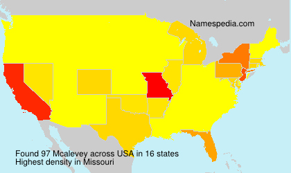 Surname Mcalevey in USA