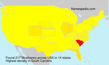 Surname Mcalhaney in USA