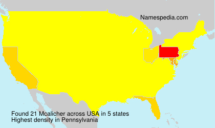 Surname Mcalicher in USA