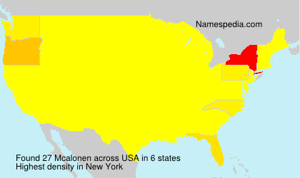 Surname Mcalonen in USA