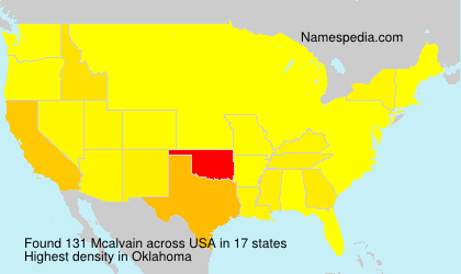 Surname Mcalvain in USA