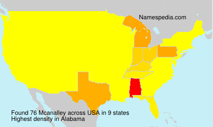 Surname Mcanalley in USA