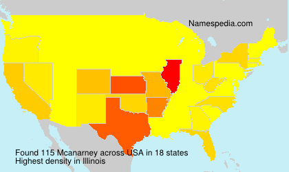 Surname Mcanarney in USA