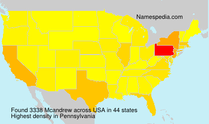 Surname Mcandrew in USA