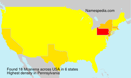 Surname Mcanena in USA
