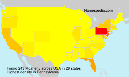 Surname Mcaneny in USA
