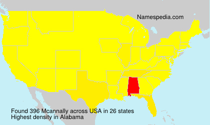 Surname Mcannally in USA