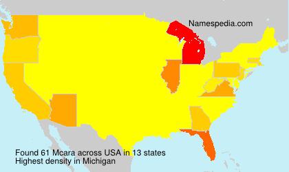 Surname Mcara in USA