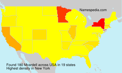 Surname Mcardell in USA