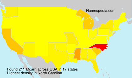 Surname Mcarn in USA