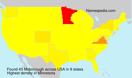 Surname Mcborrough in USA