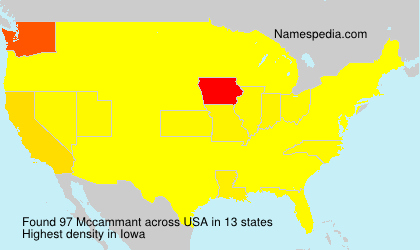 Surname Mccammant in USA