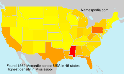Surname Mccardle in USA