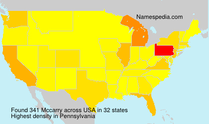 Surname Mccarry in USA