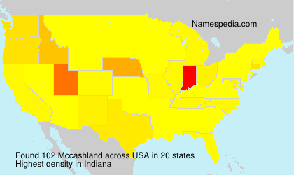 Surname Mccashland in USA