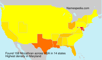 Surname Mccathran in USA