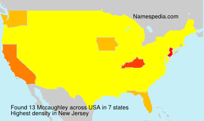 Surname Mccaughley in USA