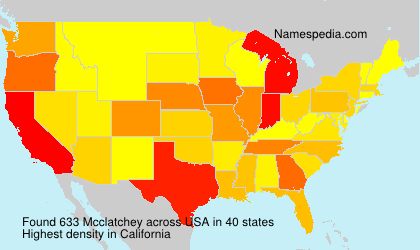 Surname Mcclatchey in USA