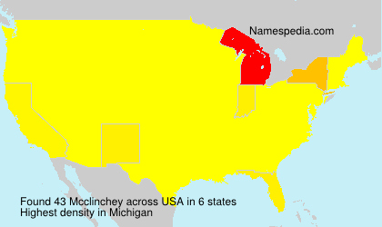 Surname Mcclinchey in USA