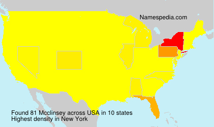 Surname Mcclinsey in USA