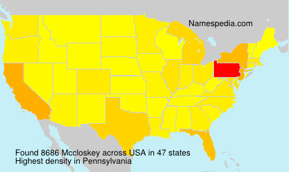 Surname Mccloskey in USA
