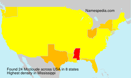 Surname Mccloude in USA