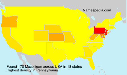 Surname Mccolligan in USA