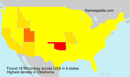 Surname Mcconkay in USA