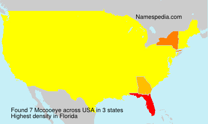 Surname Mccooeye in USA