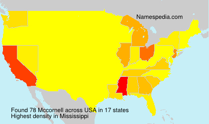 Surname Mccornell in USA