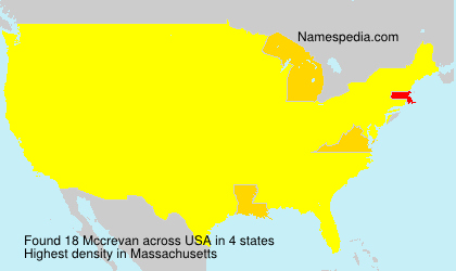Surname Mccrevan in USA