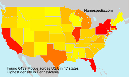 Surname Mccue in USA