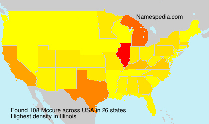 Surname Mccure in USA