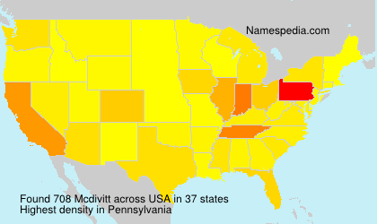 Surname Mcdivitt in USA