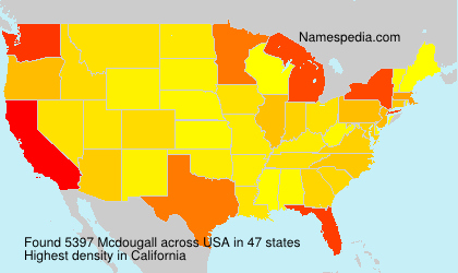 Surname Mcdougall in USA