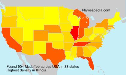 Surname Mcduffee in USA