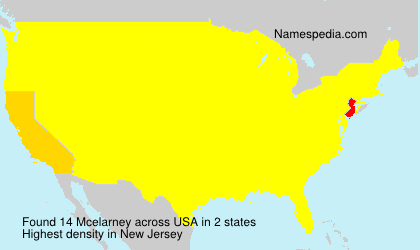 Surname Mcelarney in USA