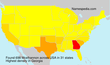 Surname Mcelhannon in USA
