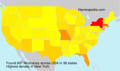 Surname Mcenaney in USA