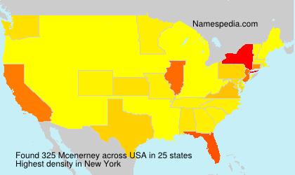 Surname Mcenerney in USA