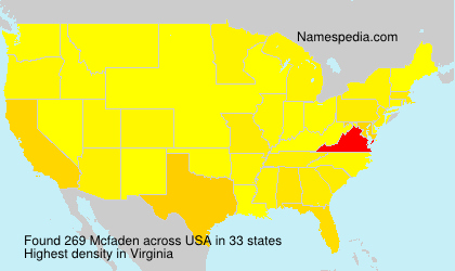 Surname Mcfaden in USA