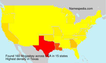 Surname Mcgaskey in USA