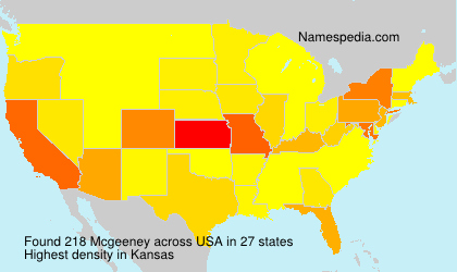 Surname Mcgeeney in USA