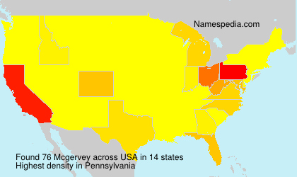 Surname Mcgervey in USA