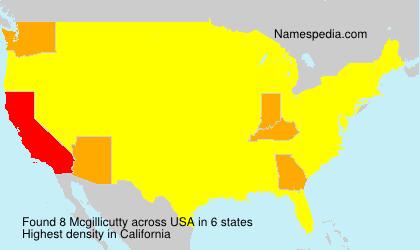 Familiennamen Mcgillicutty - USA